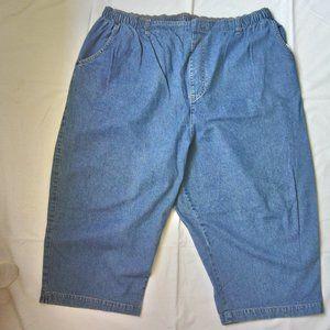 WHITE STAG Blue Denim Capri Pants Sz 26W